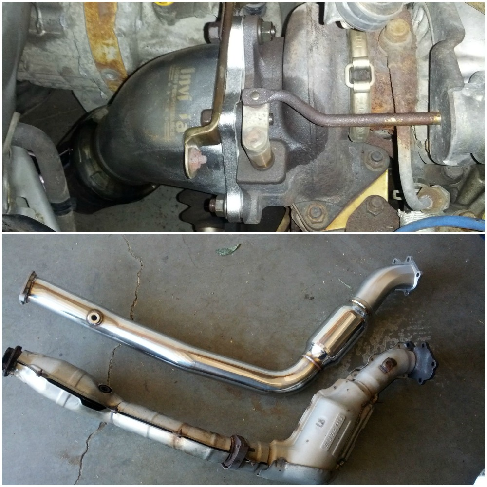 My first downpipe was an Invidia catted for the STI, it has since been replaced by a Grimmspeed unit. Now the Invidia is equipped to the Forester.
