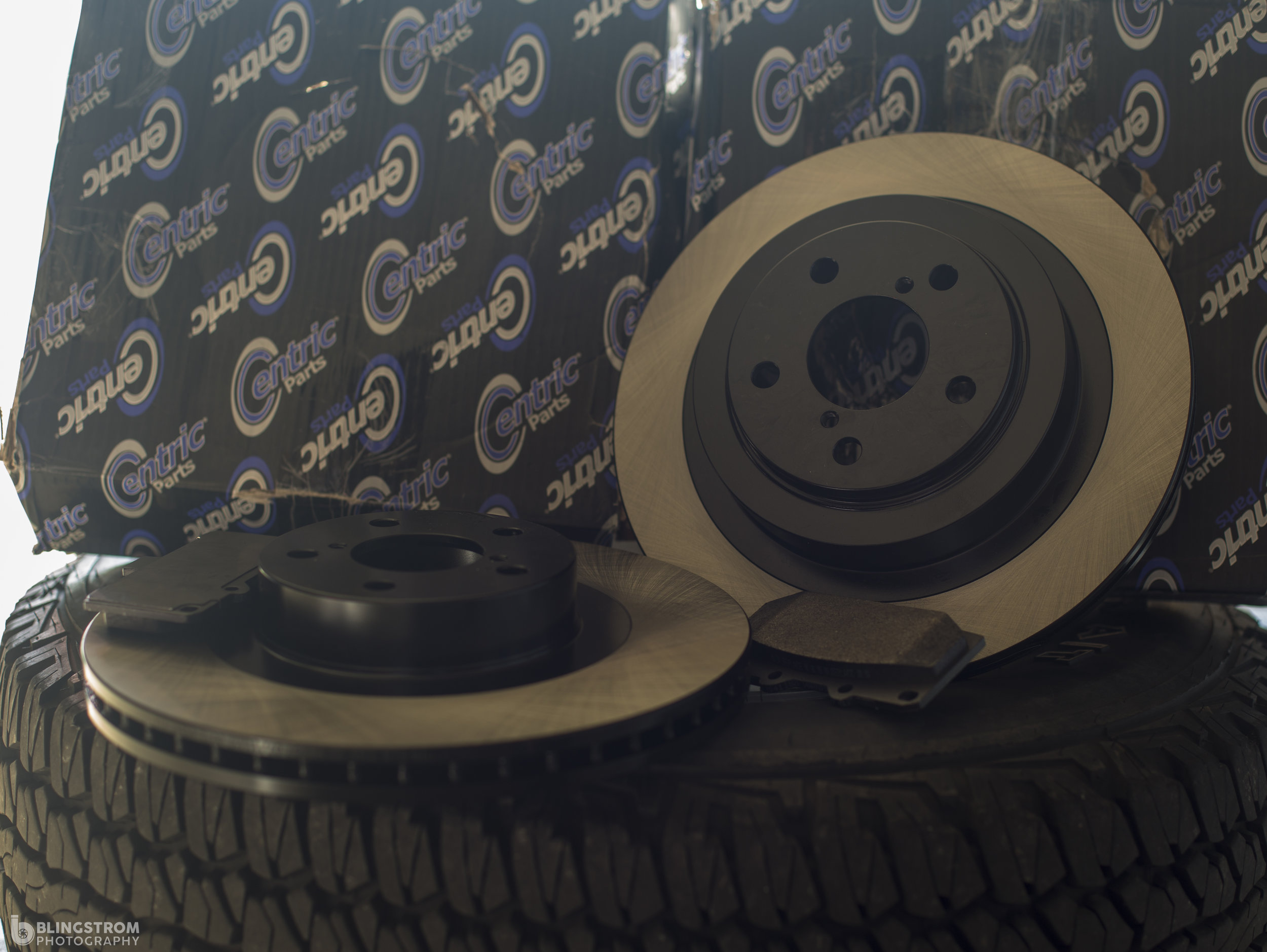 I also picked up my rotors from Centric for the front and rear.