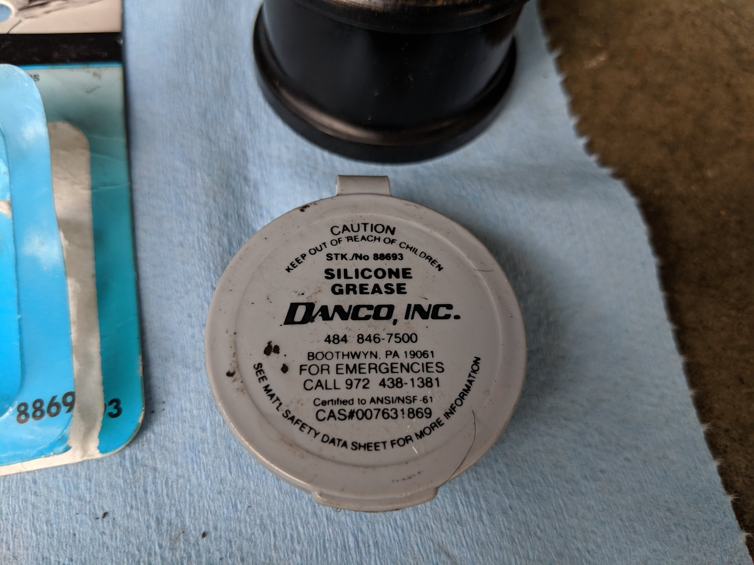 Choose your grease of choice. This grease was highly recommended for my poly bushings to keep squeaking to a minimum, so we will try it in this application.