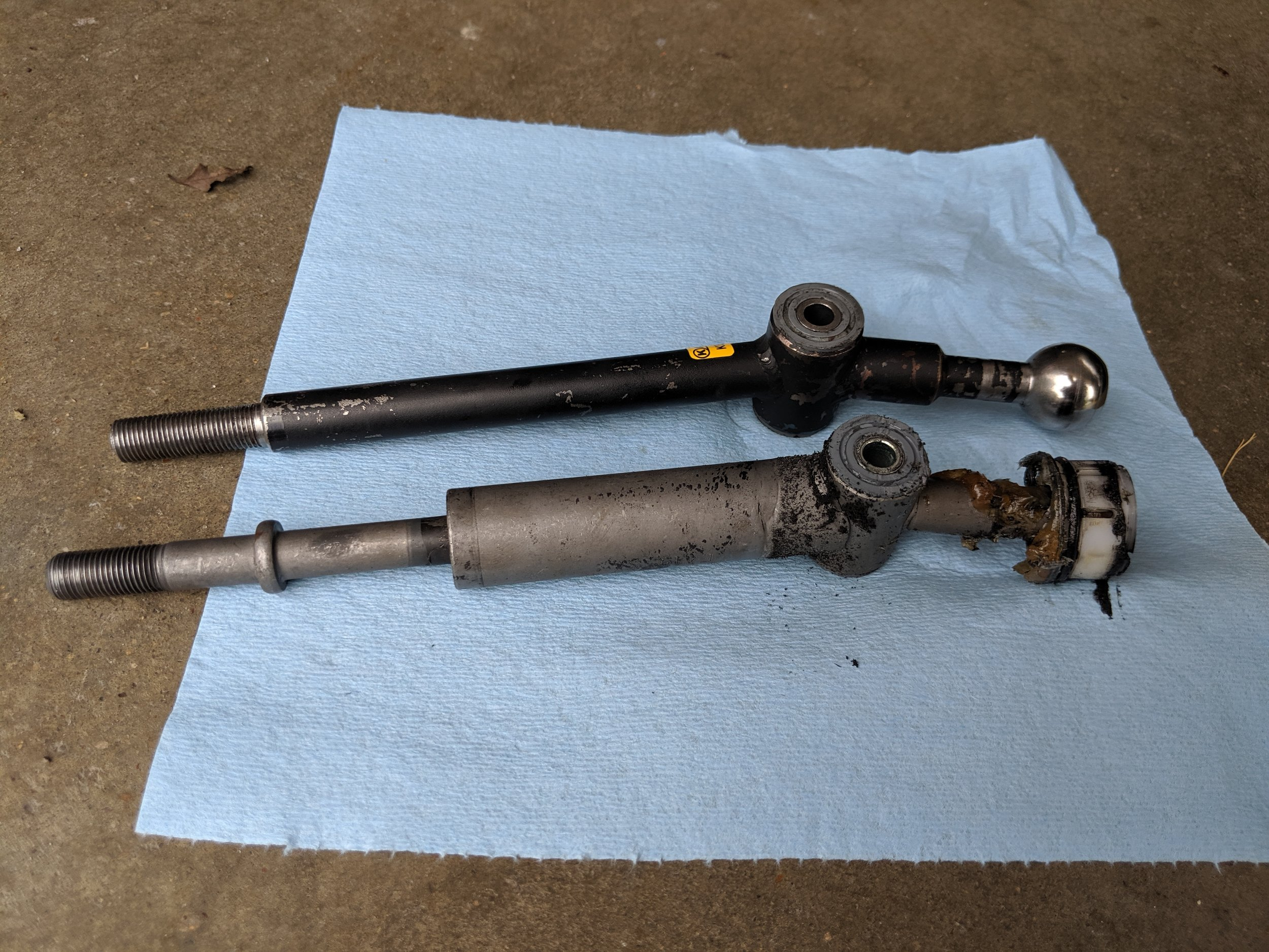 Kartboy up top and factory on the bottom. Just a few changes do the trick  Kartboy short shifter