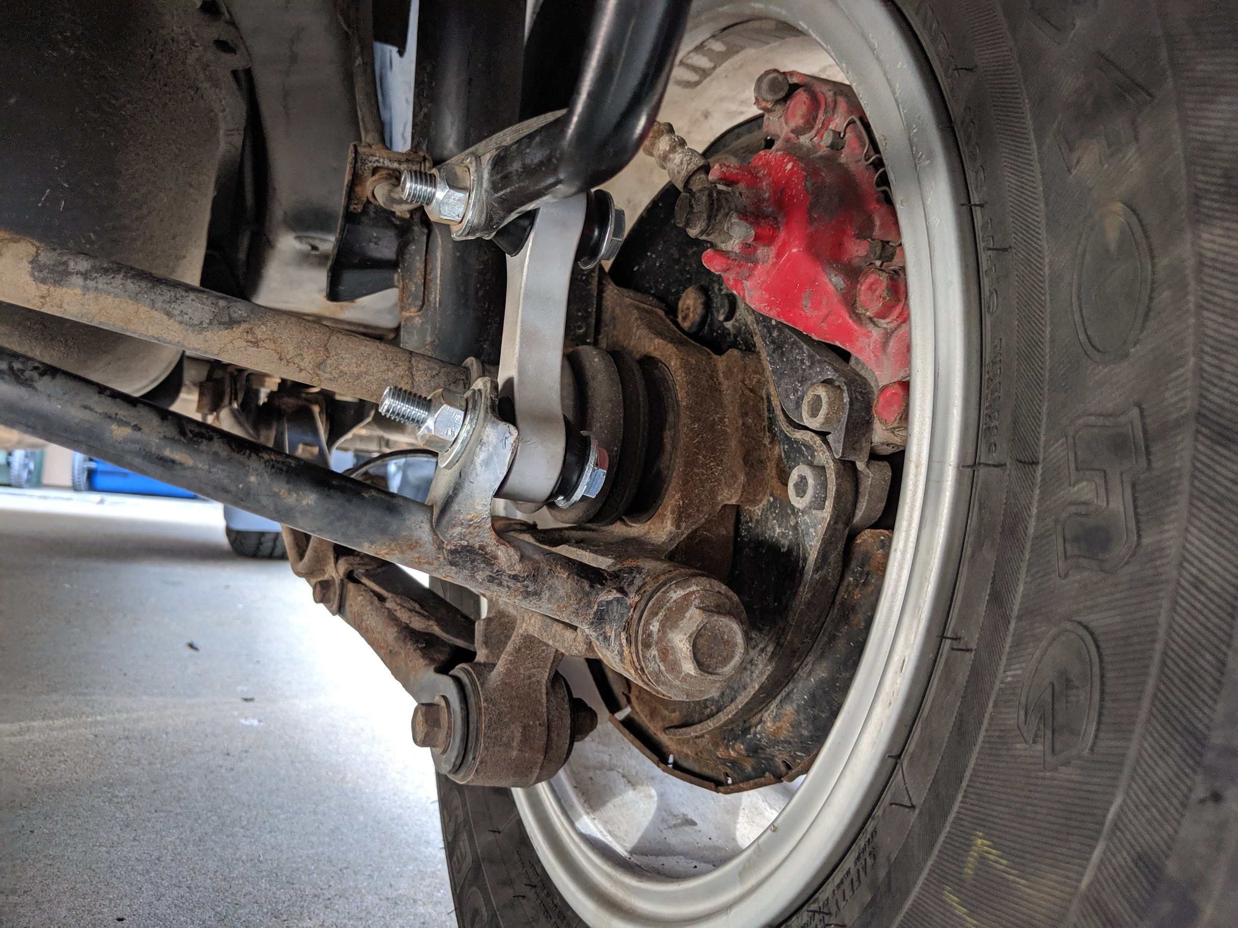 Completion! Now time for a short test drive.  Kartboy rear end links