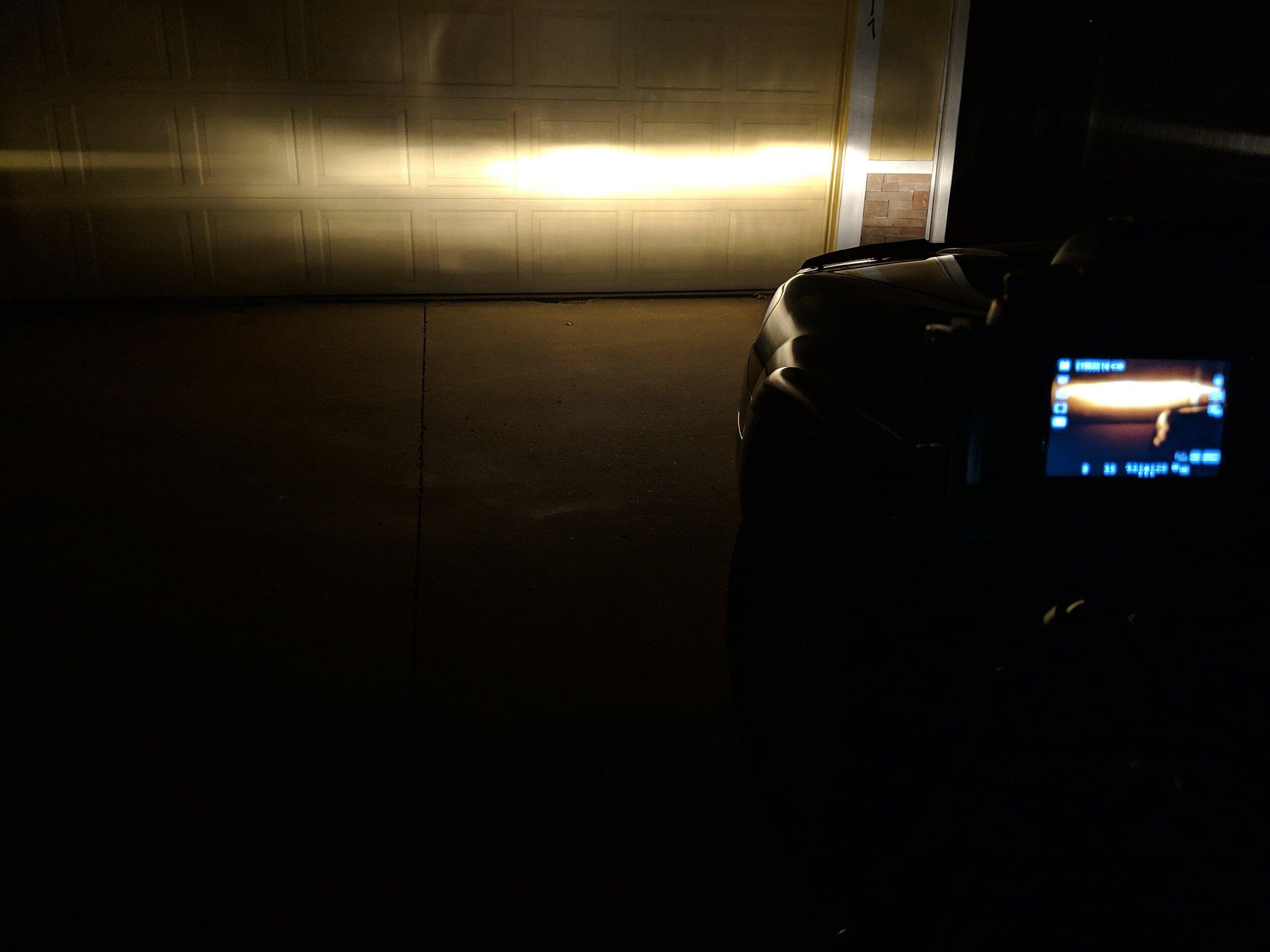 Factory H1 light output.