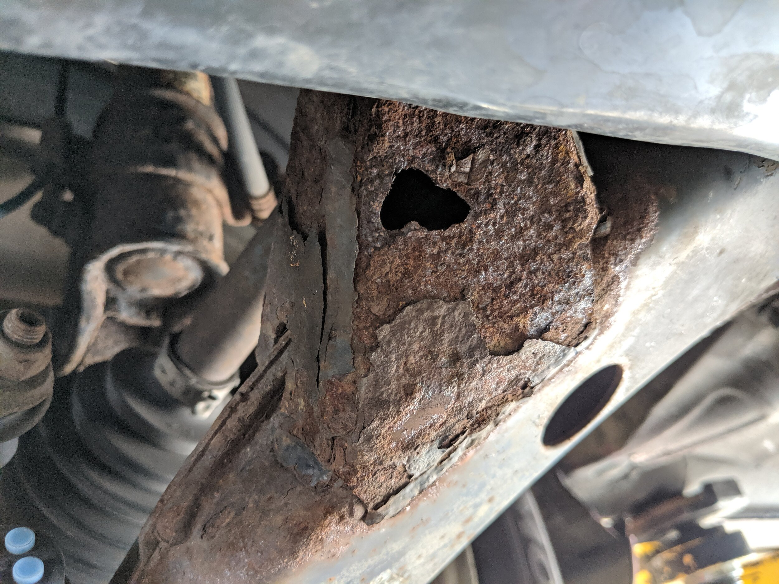 Another reason you may want to swap out your old control arms.. Rust is taking over…