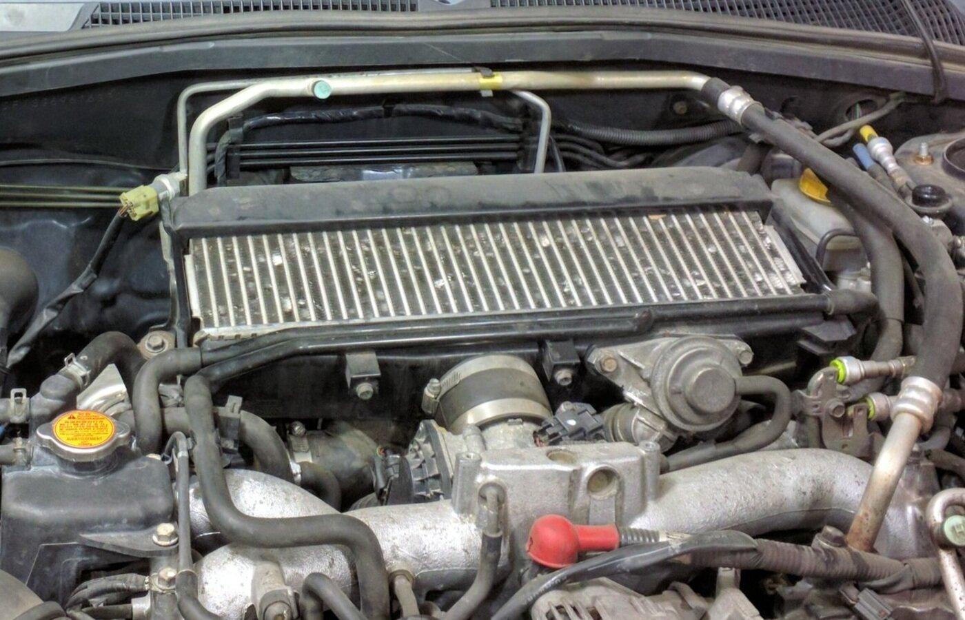 GrimmSpeed Top Mount Intercooler Splitter For Subaru 04-08 Forester XT
