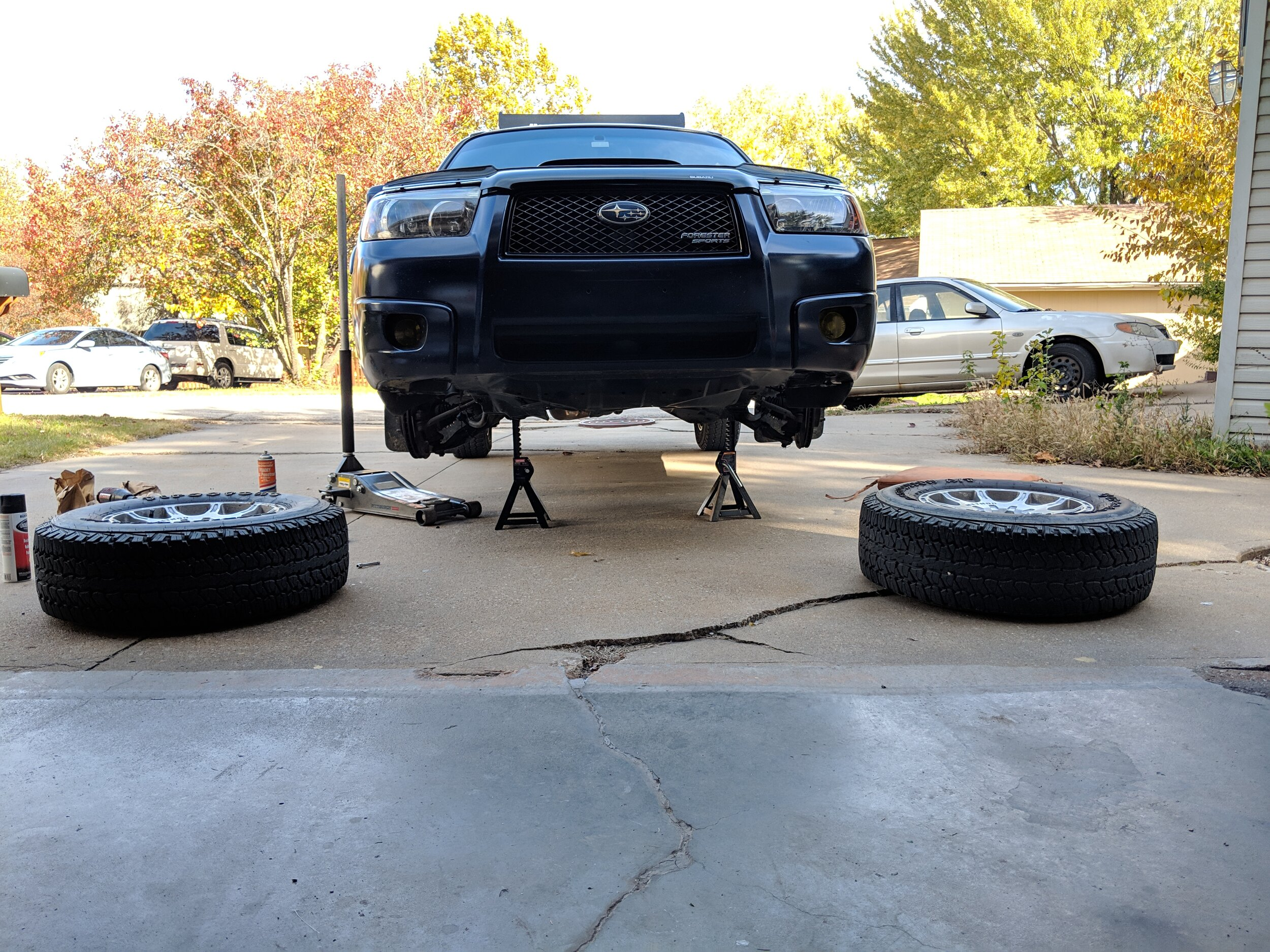 putting your subaru up on jack stands getting your subaru in the air without going to a rally x event blingstrom putting your subaru up on jack stands