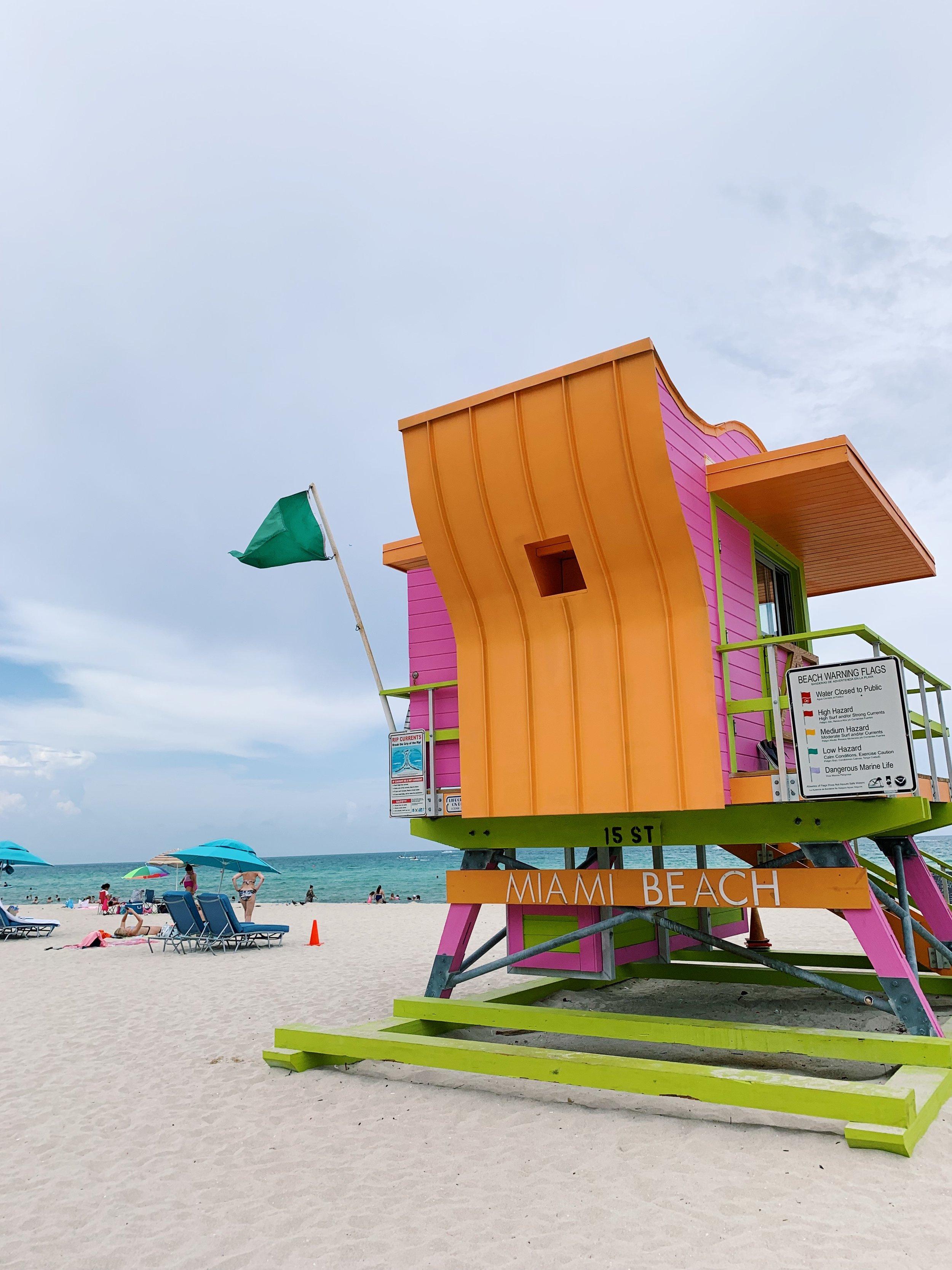 #dreamcolorscheme, lifeguard tower edition | Miami Beach