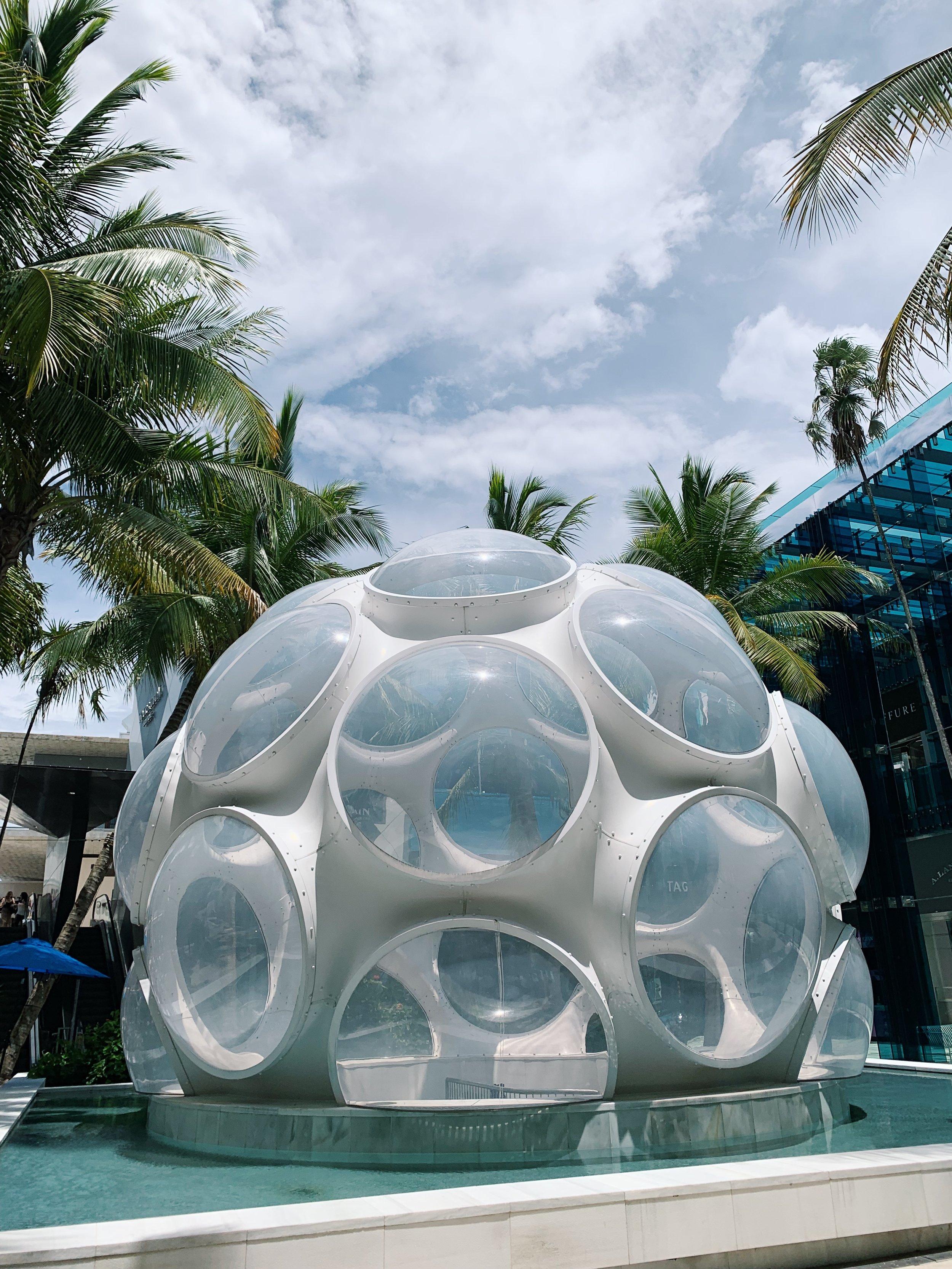 Bucky Fuller's Fly's Eye Dome recreation | Miami Design District