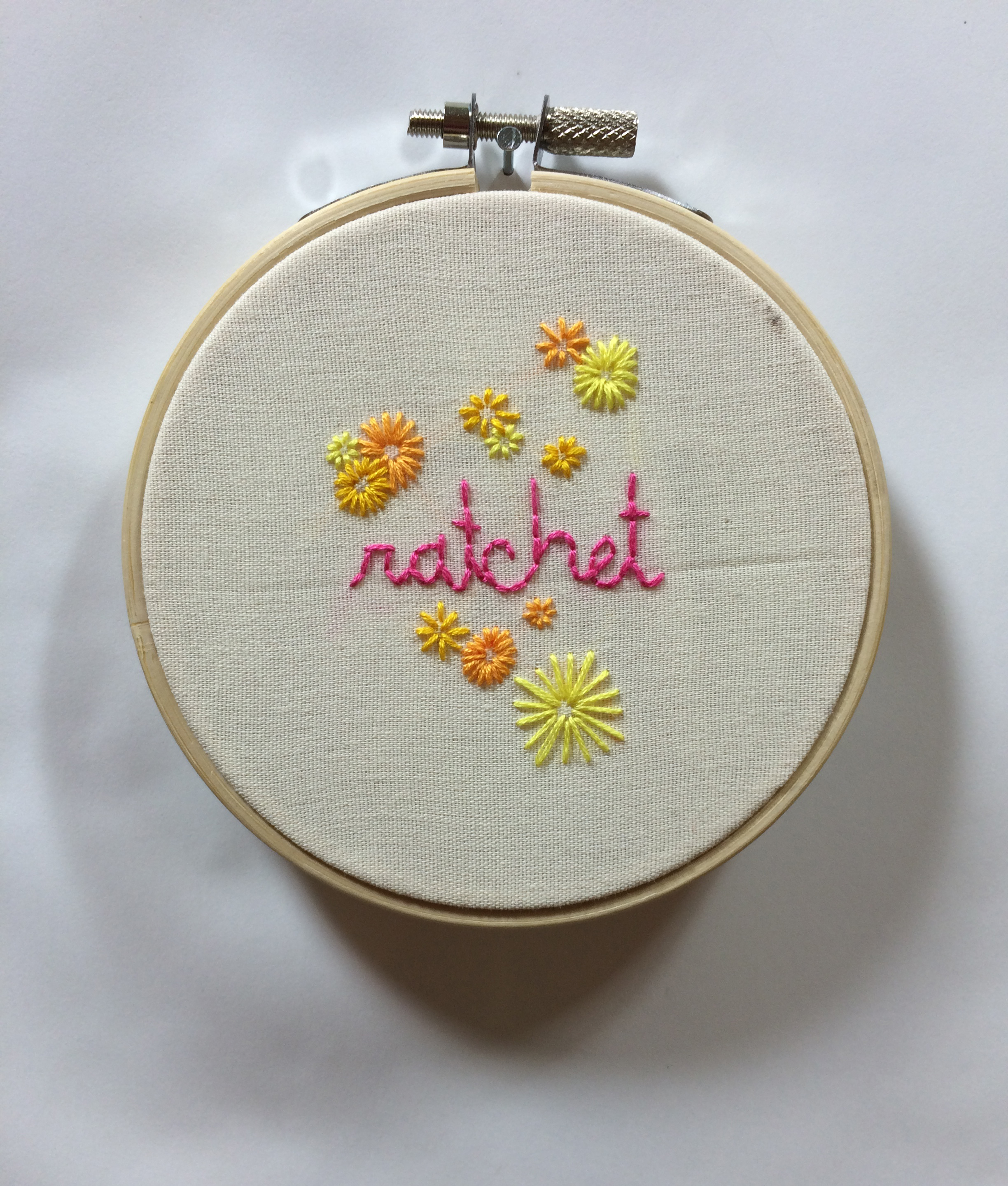 "Ratchet  2015 4"" embroidery"