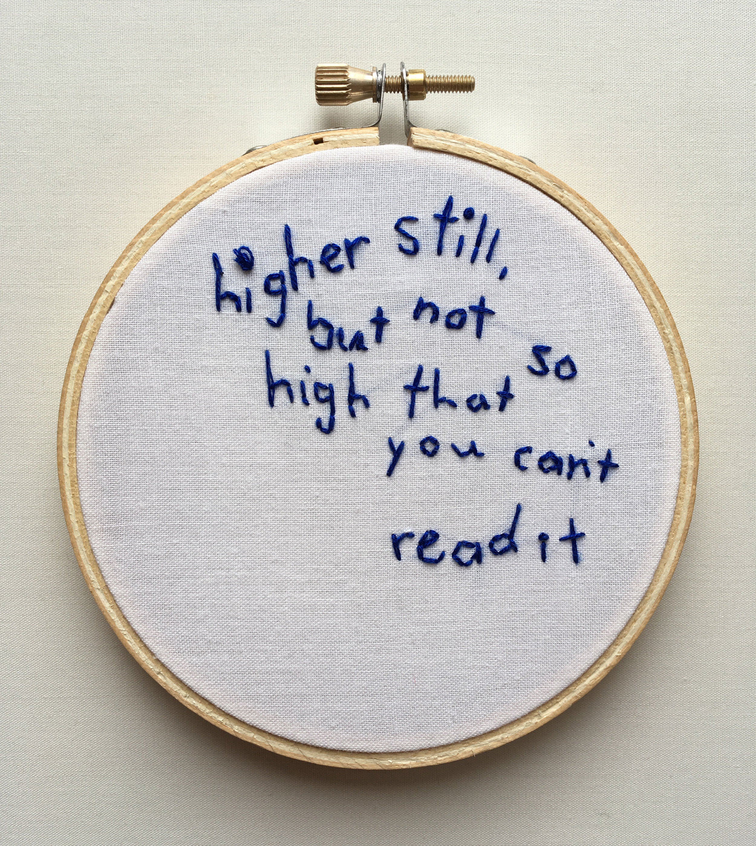 """Higher Still  2017 4"""" embroidery"""