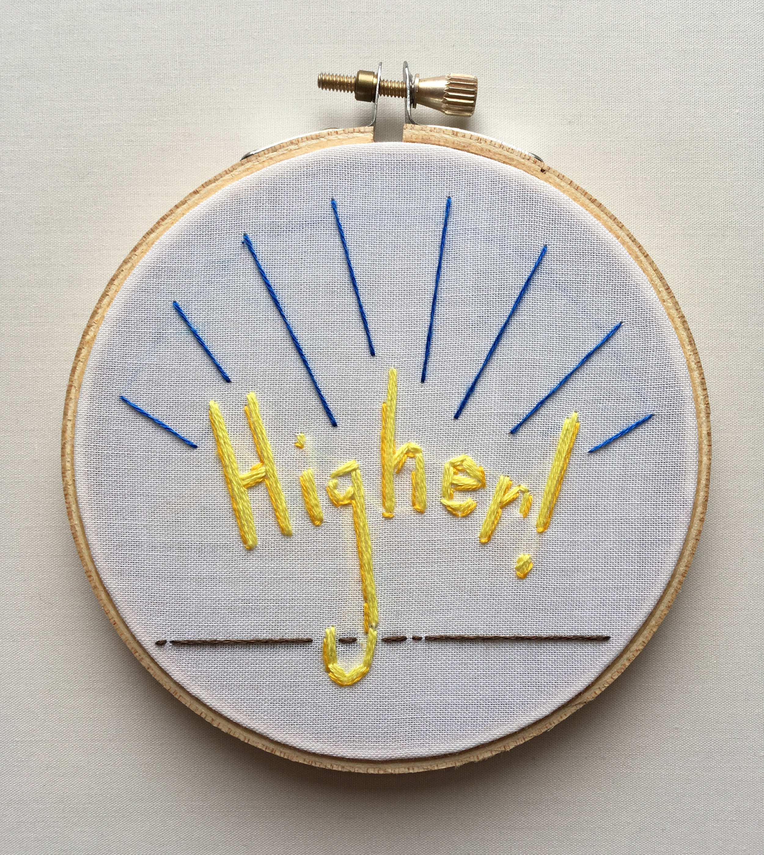 """Higher!  2017 4"""" embroidery"""