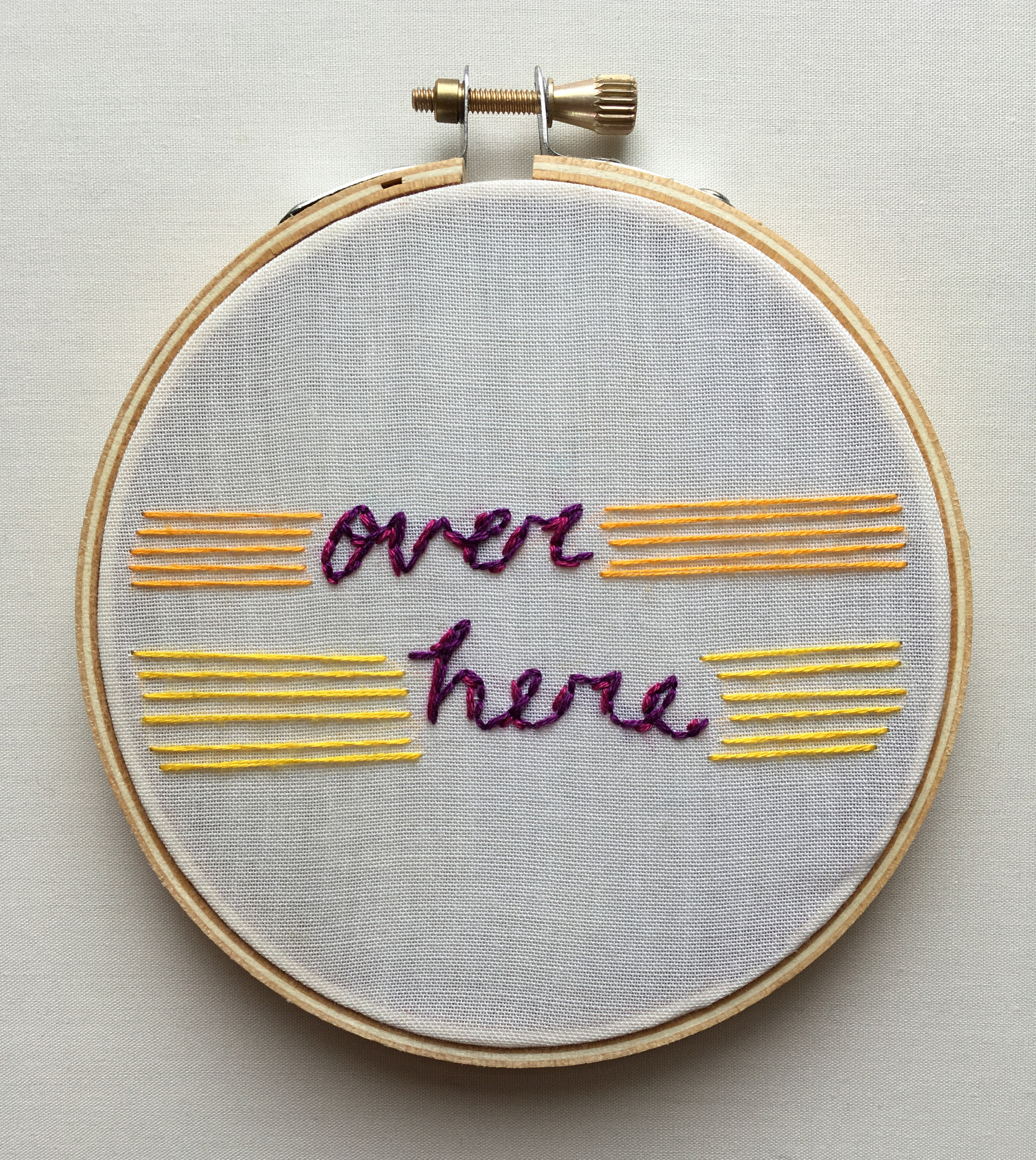 """Over Here  2017 4"""" embroidery"""