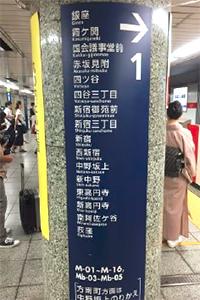 メトロで移動中。なぜか日本語よりも、その下に書かれたローマ字を読んでしまう自分がいます。えー!アメリカかぶれか?