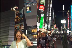 歌舞伎町のゴジラに「いいね!」。私が日本に住んでいた頃と比べて外国人が多かったです。かくいう私は、見るものすべてが珍しく、道もコンビニの店員に聞くなど、完全にお上りさん状態でした。