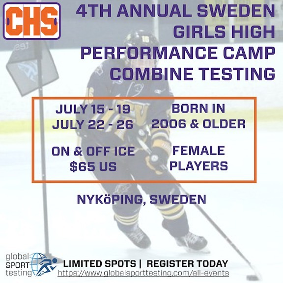 Our team is going to EUROPE! We will be making stops in Sweden, Czech Republic & Denmark. Come find us! . July 15 & 22 @collegehockeyshowcases Girls High Performance Camp  July 20 & 21 @ckm_sports_management & @warriorhky Hockey Skills Combine Testing  July 27 @ckm_sports_management & @warriorhky Hockey Skills Combine Testing  July 29 @collegehockeyshowcases Top Prospect Hockey Summit Camp (closed event) . . . #globalsporttesting #icehockey #europe #hockey #sweden #denmark #czechrepublic #czech #summercamp #hockeycamp #athletedevelopment #playerdevelopment #knowwhereyoustand #maximizeyourperformance #takethelead