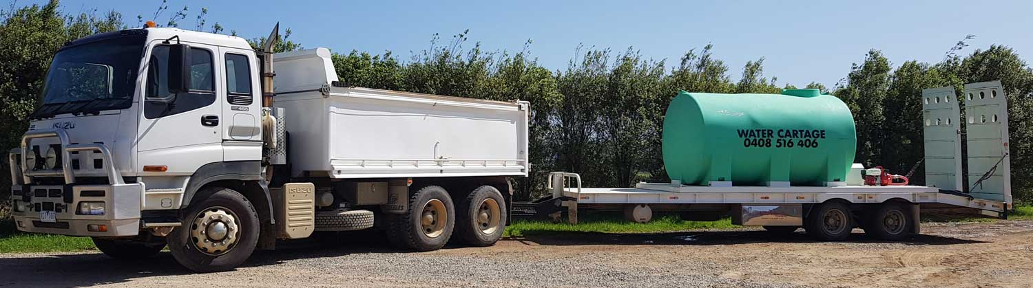 Tip Truck with Float and Water Cartage Tank