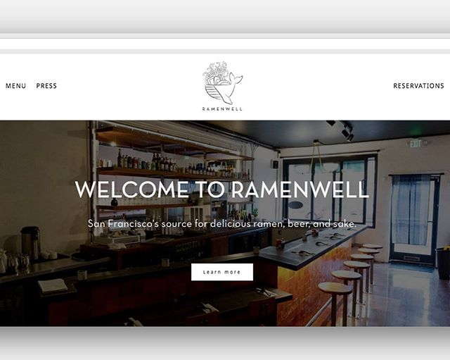 A few months ago, we worked on a site for a client looking to transition to a platform he could monitor himself.  We ended up with a clean, minimal design, integrating a custom font to keep with the previous site's aesthetic, while making strategic enhancements to elevate the overall vibe.  All this to say, we just found out that this client's restaurant, for which the website was designed, made the 2019 Michelin Guide. How cool! Congrats, @ramenwellsf !