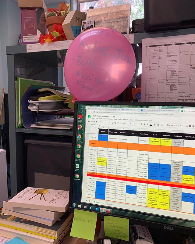 For almost 8 years I've worked in STEM education/youth development. For all of those 8 years my desk/office was accessible to kids- even when it wasn't really supposed to be 😂. At the end of this month I'll be starting a new job. And while it's still in the realm of education, the chances of finding a balloon addressed to me, affectionately referred to as Kylie Jenner by some very kind (and delusional) students, will diminish. Taking in these moments and cherishing the chaos while I still can. ❤️😭