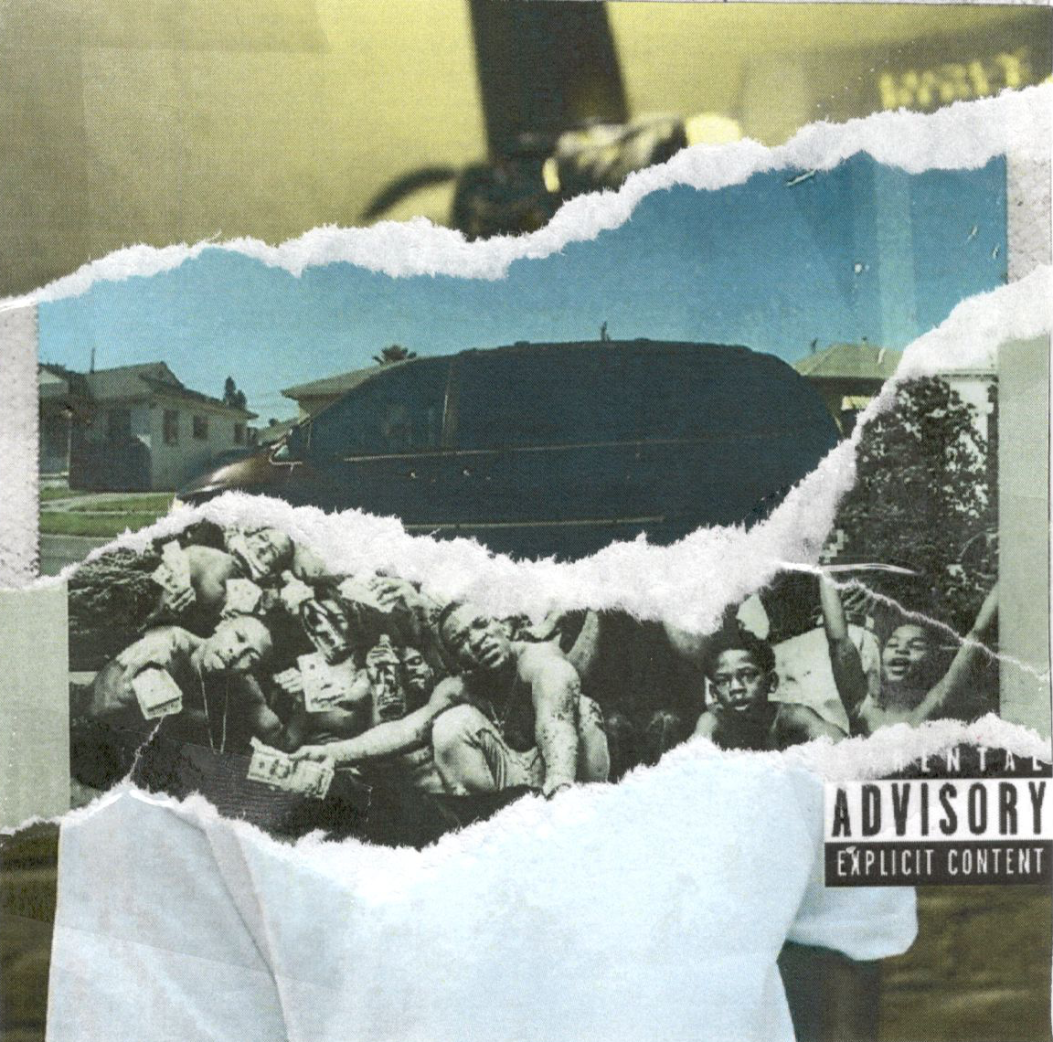 - A compilation of the most recent albums released by Hip-Hop artist Kendrick Lamar. This piece was a more hands on project where each cover was printed out, torn up and then scanned back into digital format.