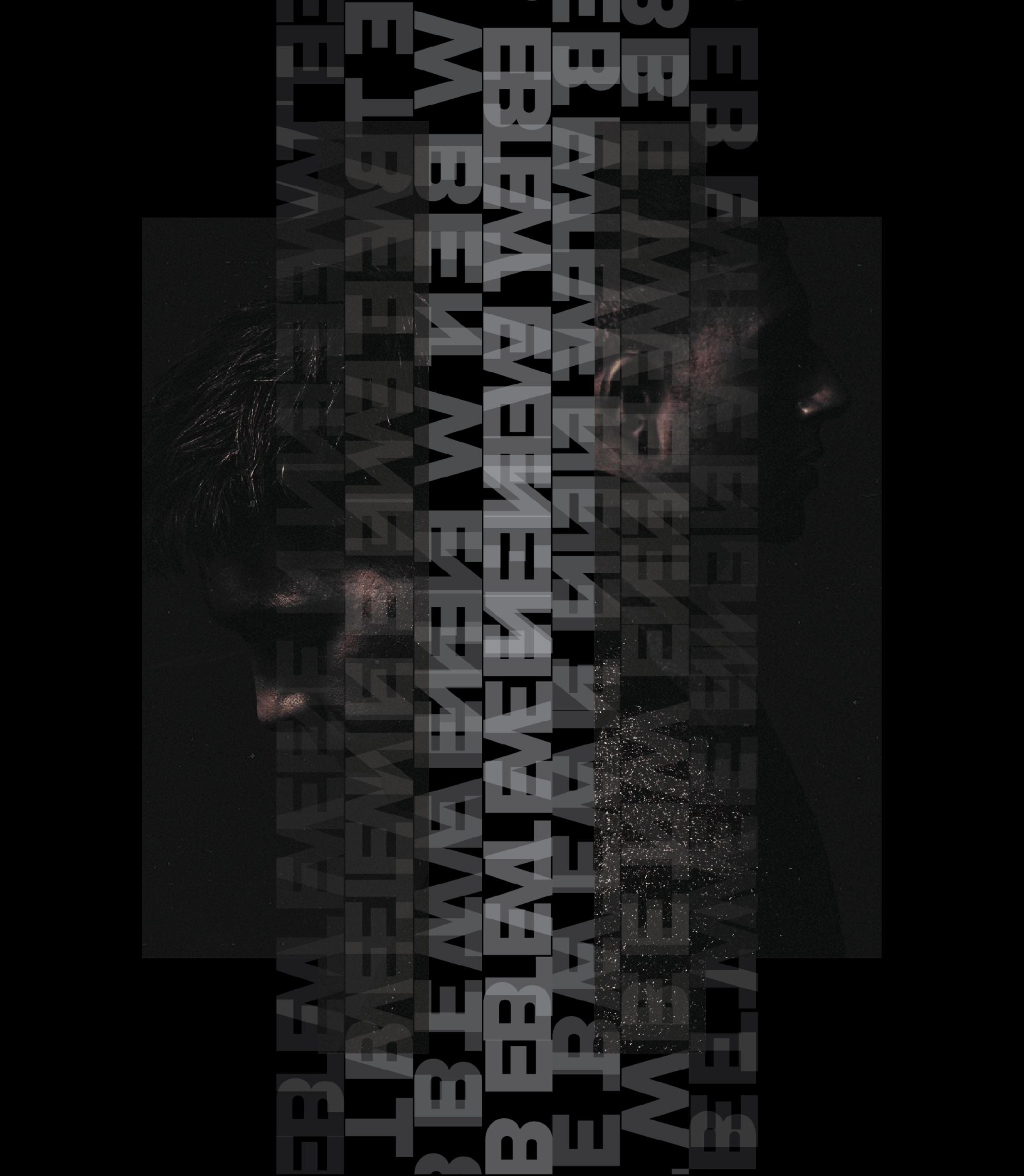 """- A graphic design inspired by Majid Jordan's most recent album """"A Space Between"""". This project involved various types of text manipulation, going through multiple iterations."""