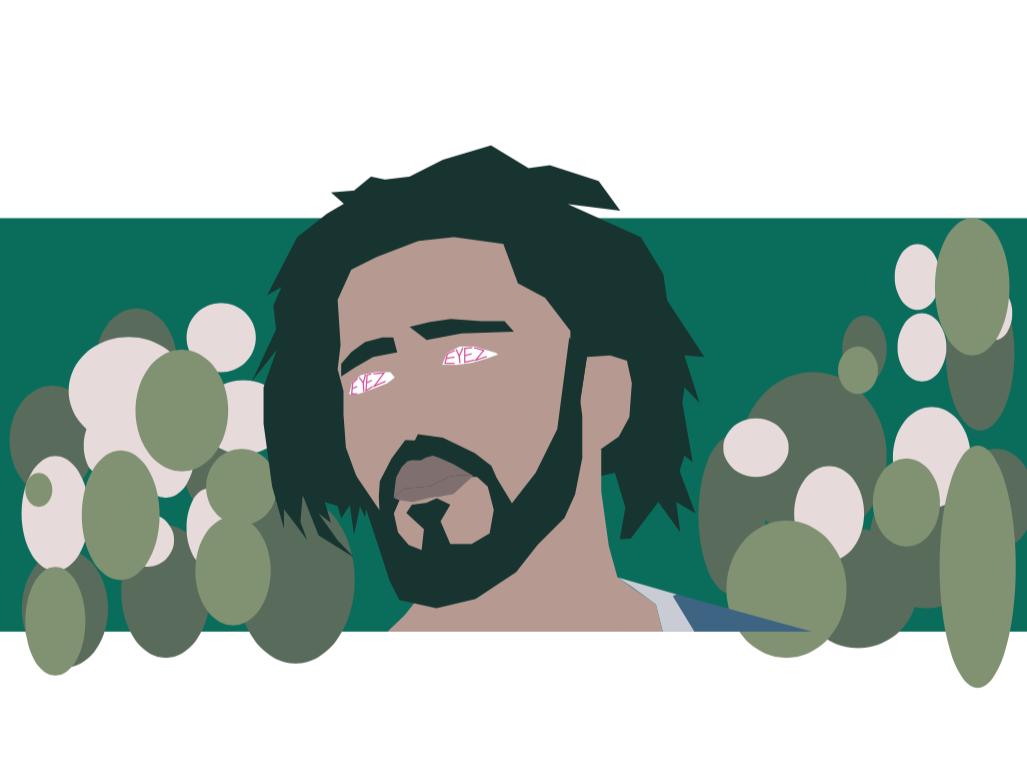 J. Cole inspired illustration.