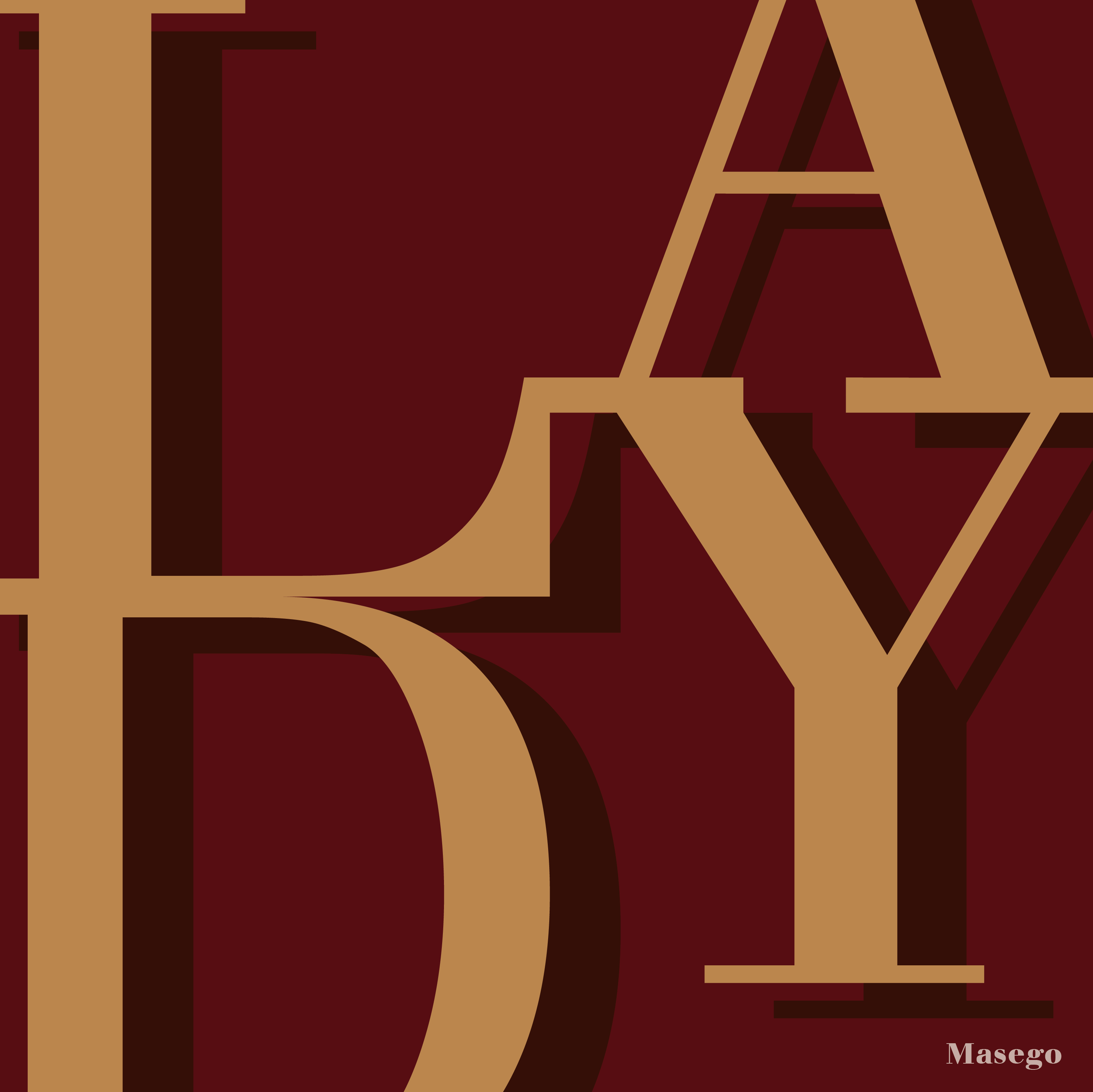 """Alternative typography covers for Masego's """"Lady Lady"""" album."""