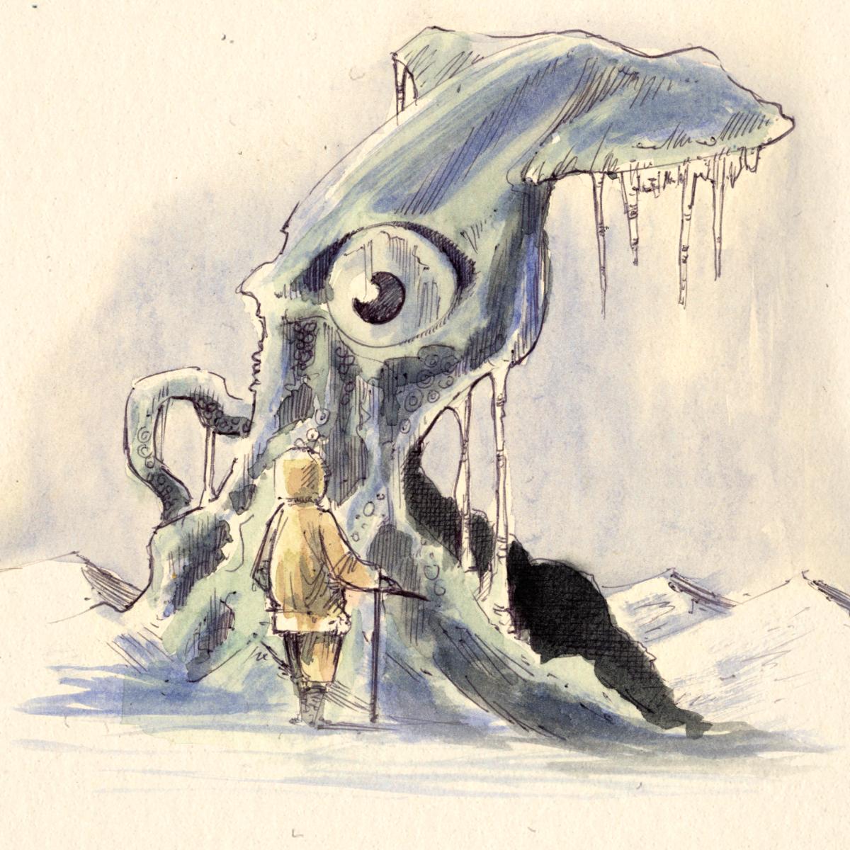"""Dr. Kolb und seien Abenteuer im Nordmeer - """"tiefgefrorene Calamare hatte ich mir anders gewünscht"""" dachte sich Dr. Kolb und schämte sich sogleich für diesen Gedanken. Allerdings nicht besonders."""