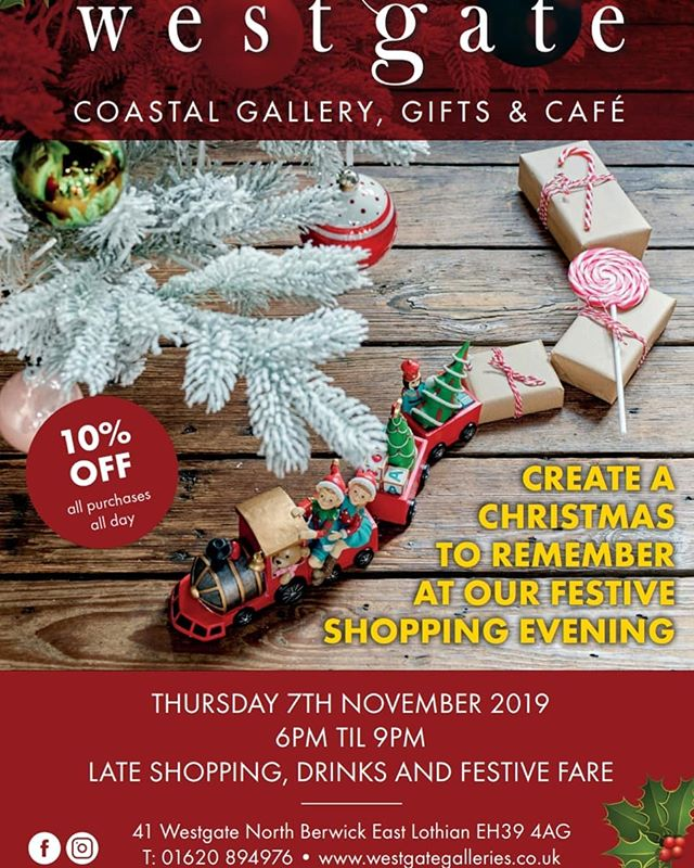 Step into our winter wonderland, create a Christmas to remember and kick-start your Christmas Shopping at our annual Festive shopping event!  Thursday 7th November  10% OFF ALL DAY!  Mulled Wine and Festive Fare 6pm - 9pm 🍷🥳🎄