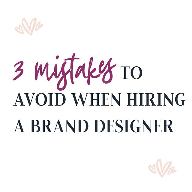 Are you considering hiring a graphic designer to design your new brand?⁣⁠ That are so many graphic designers in the market so, how can you truly know who to rely on?⁣⁠ With inexpensive online logo generation programs available online, there is a true misunderstanding of the need for a good graphic designer.⁣⁠ On my blog post, I'll tell you 3 mistakes to avoid when looking for your brand designer. ⁣⁠ Link is in Bio👆⁣⁠ .⁠ .⁠ .⁠ .⁠ .⁠ .⁠ #lifecoaches#lifecoachingtips#lifecoachtowomen#lifecoachforwomen#femalecoach#businesscoaching#businesscoaches#businesscoachforwomen#mindsetcoaching#mindsetcoach#spiritualcoach#spiritualcoaching#wellnesscoaching#wellnesscoaches#socialmediacoach#lifestylecoach#lifestylecoaching#healthcoaches#healthcoaching#healthcoachlife#lifecoachinghappiness⁣⁠