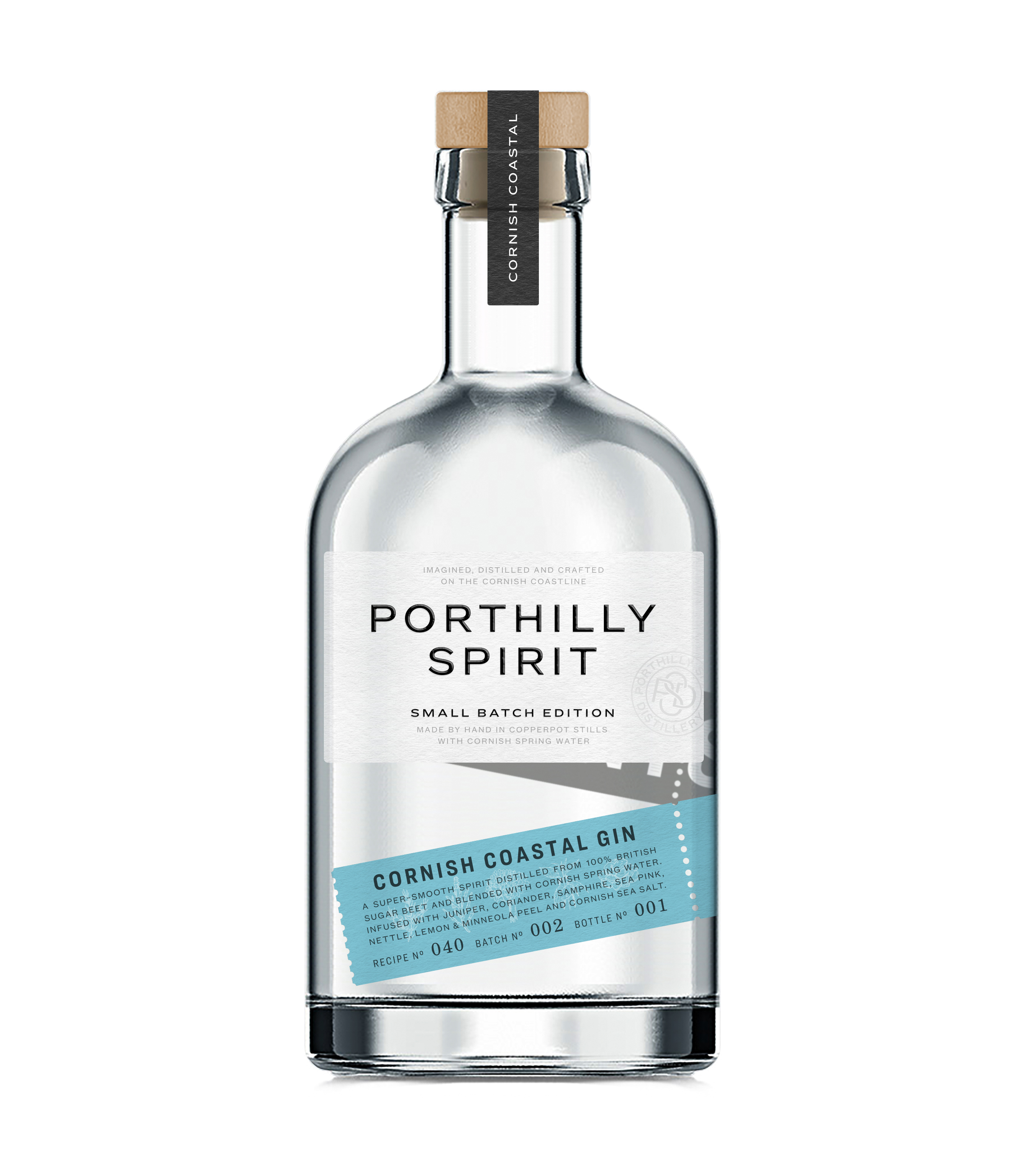 CORNISH COASTAL GINDry, refreshing & DISTINCTIVE - Every batch of Porthilly Spirit Cornish Coastal Gin begins as a clean spirit distilled from British Sugar Beet and blended with Cornish spring water. It is then infused with a unique blend of local botanicals. These specially selected ingredients create a dry yet refreshing premium Gin with wonderful complexity. Enjoy straight over ice, or mixed with a premium tonic and a garnish of citrus.
