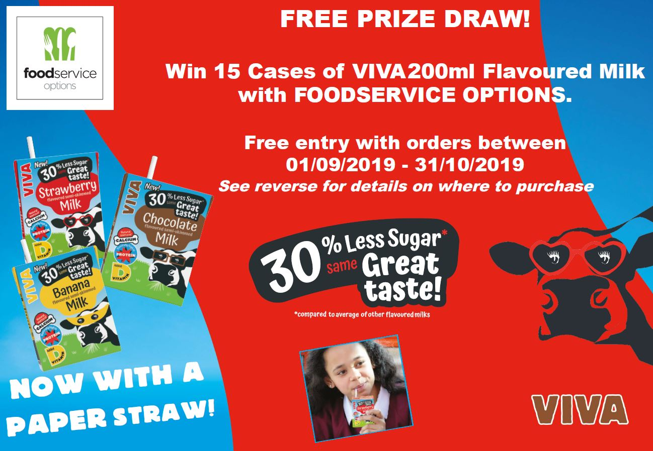 Win 15 Cases of VIVA 200ml Flavoured Milk - Free entry with orders between01/09/2019 - 31/10/2019