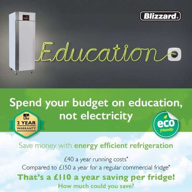 Save money with energy efficient refrigeration - Blizzard A-rated cabinets are the most cost-effective option in their category whilst offering a high specification, ergonomic features & proven reliability