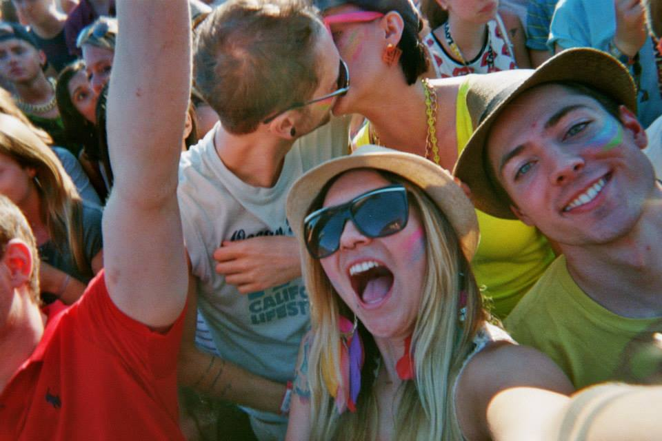 Lovebox 2013. That's me and Jon snogging in the background!