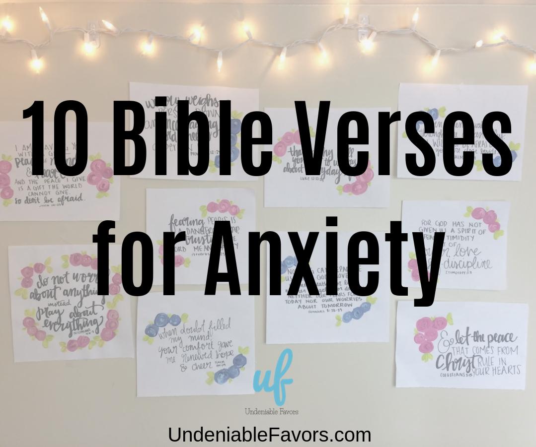 BibleVerseforAnxiety