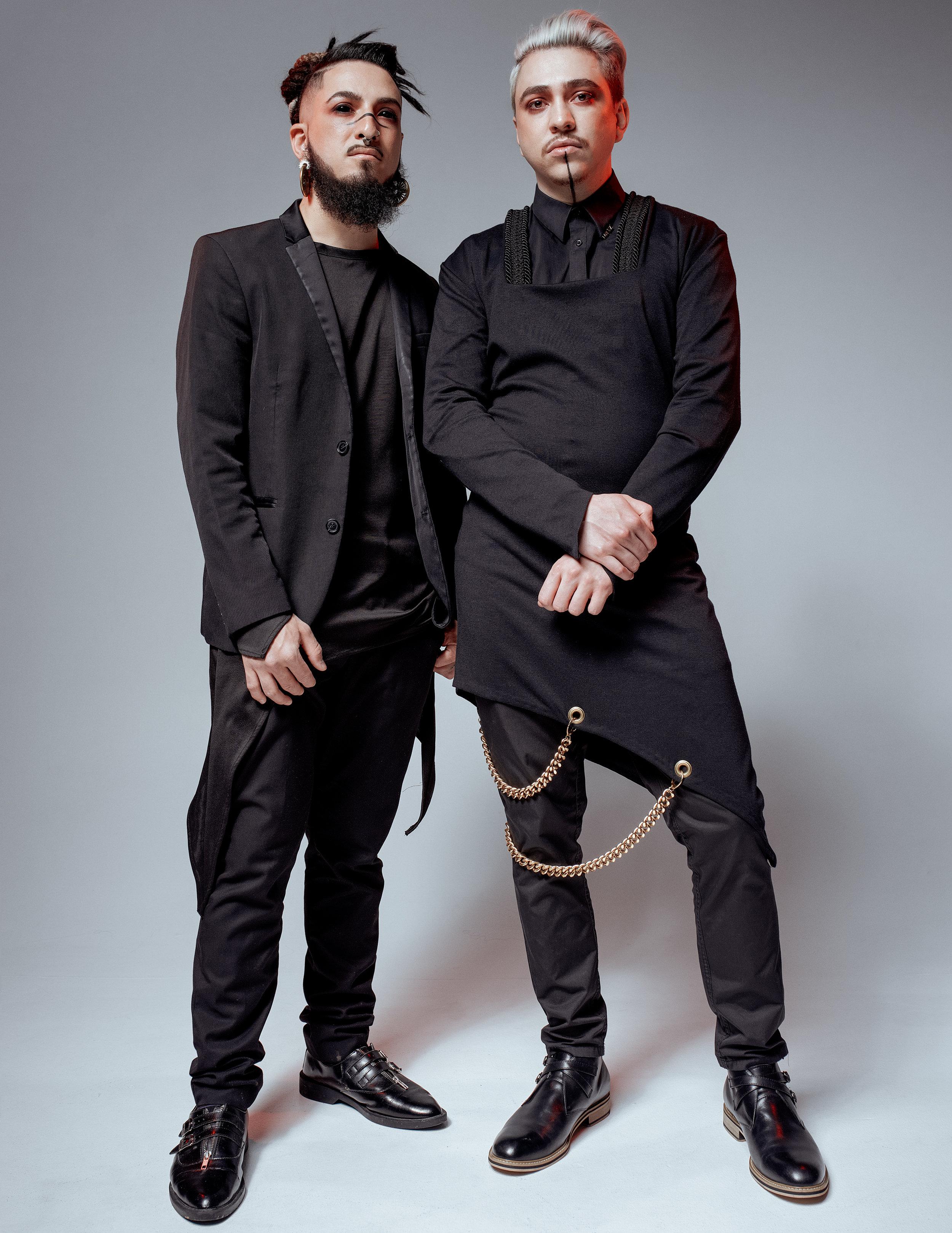 THE MEN OF MENEZ - Models Vinny Jimenez and Saul JimenezFull Story MenezToSociety: MenswearMakeup Eric QuintanaStylist & Written by Stephen GarciaPhotographed by Jonny Edwards