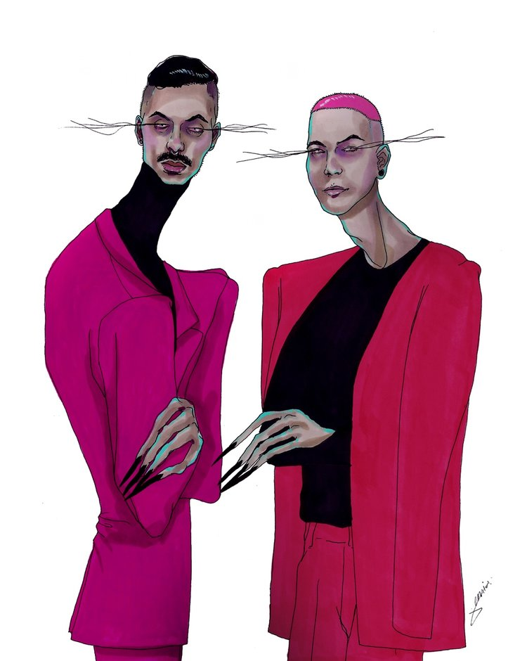 RAVISHED NOW FASHION ILLUSTRATION