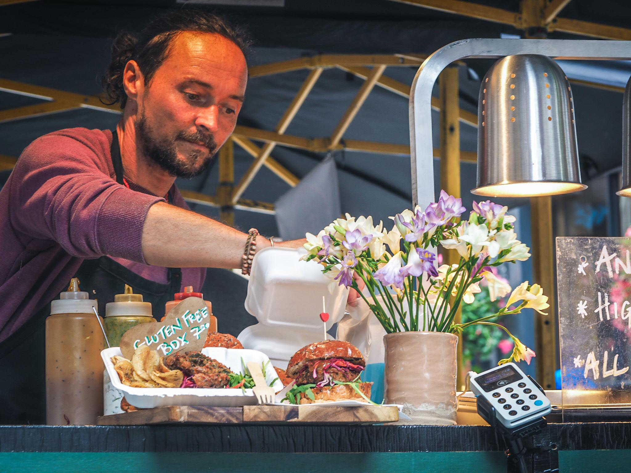 Vegan street food vendor London
