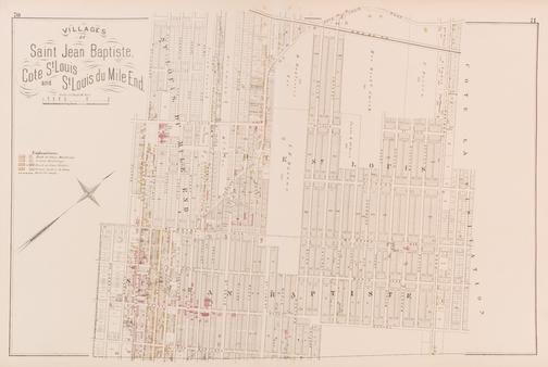 ATLAS DE MONTRÉAL, VILLAGES DE SAINT-JEAN-BAPTISTE, CÔTE SAINT-LOUIS ET SAINT-LOUIS-DU-MILE-END (1879)    SOURCE :    HÉRITAGE MONTRÉAL