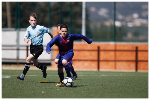 Playing against Barcelona at the MIC Cup, Spain