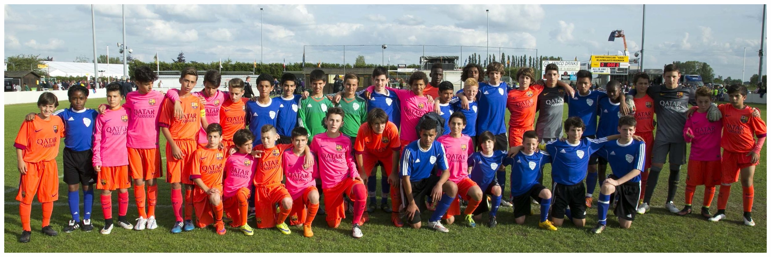 Post Match at Bassvelde Tournament, Belguim with Barcelona