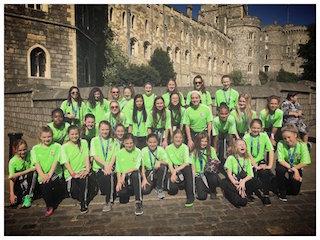 Girls at Windsor Castle