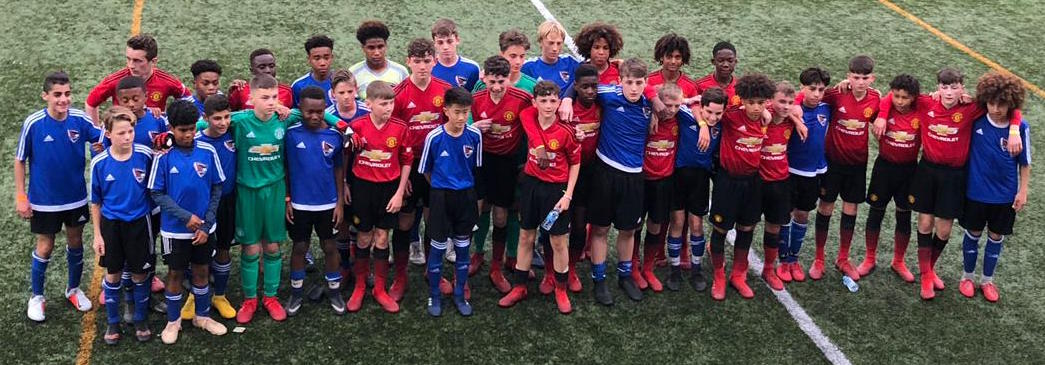 Post Match with the Players from Manchester United at Mic Cup 2019