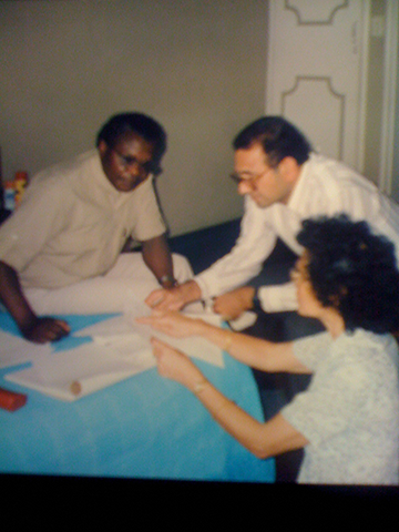 With Prof Dani Nabudere and Mary Tandon