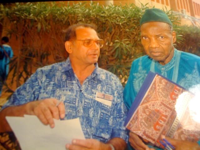 With Prof Joseph Ki-Zerbo