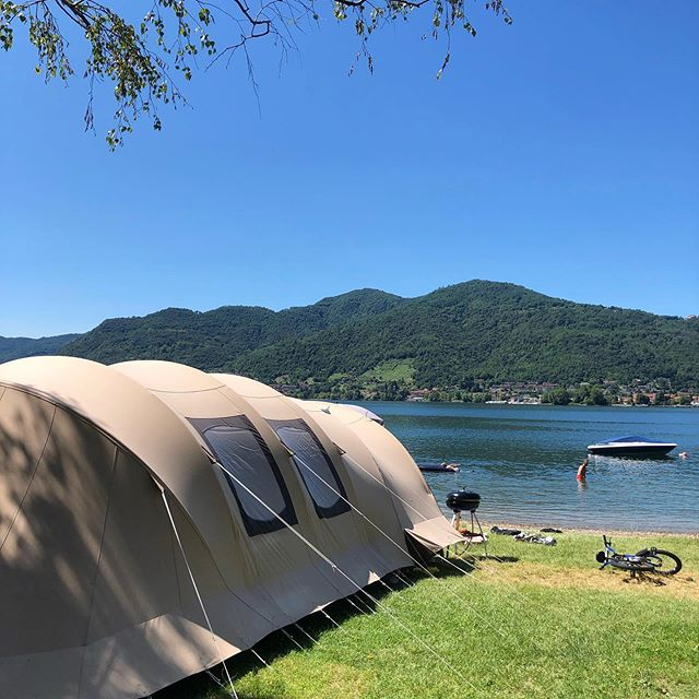 Happy Sunday🏕☀️ #camping #campingrivabella #lecco #lake #mountains #lakeofcomo #italy #lagodicomo #campeggio #lakecomostyle #lakecomoexplore #tourism #como #summer #campingplatz #vacation #tourist #instapassport #mytravelgram #travel #lagodicomo