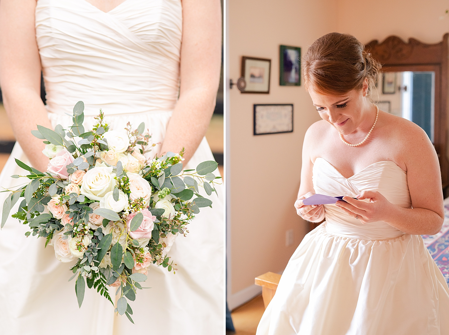 They traded love letters to read before the ceremony! How sweet is that?!