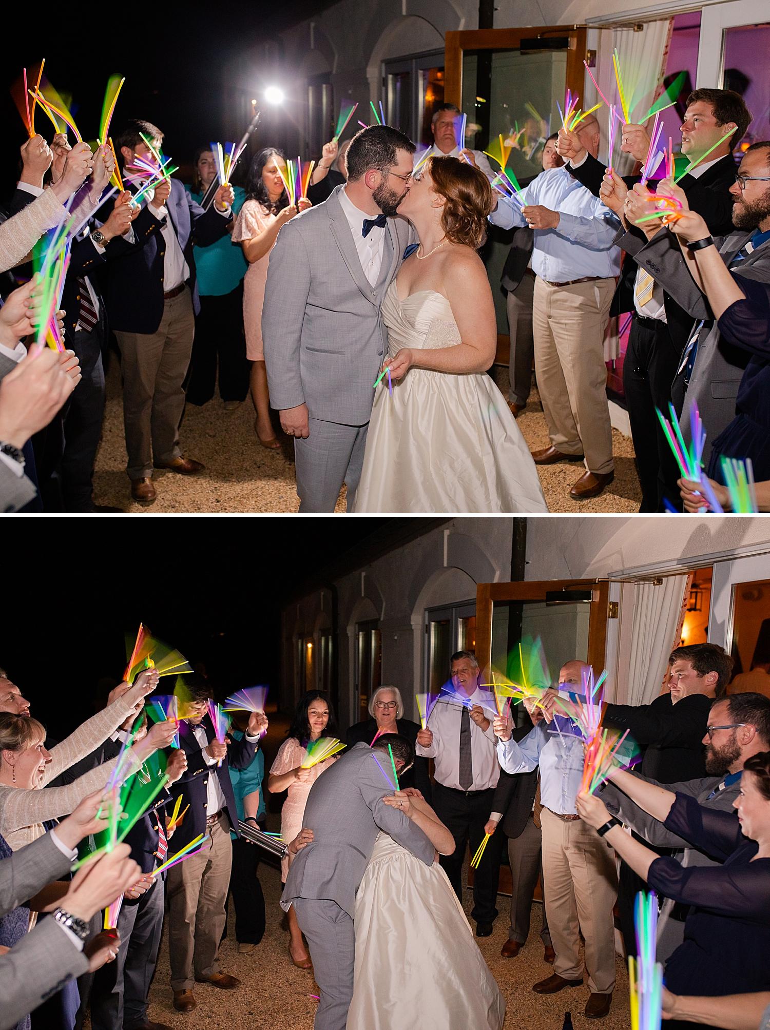 Love the multicolored glow sticks!! Such a fun and unique exit!