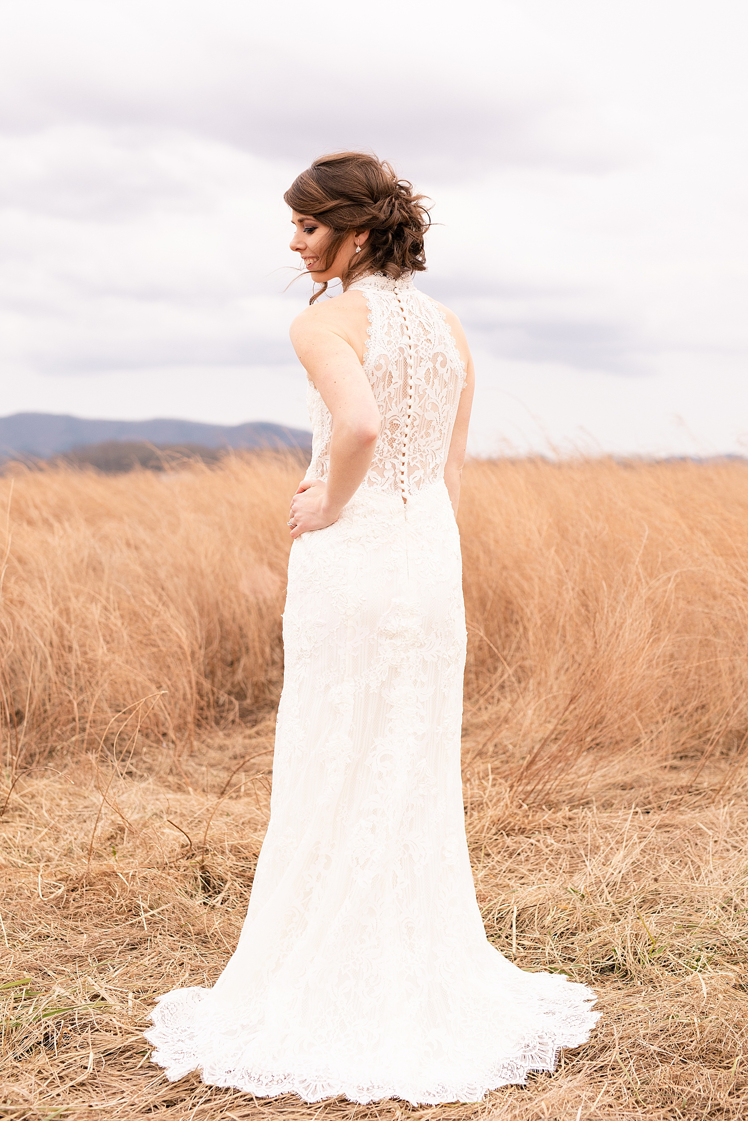 The back of this lace dress is to die for!