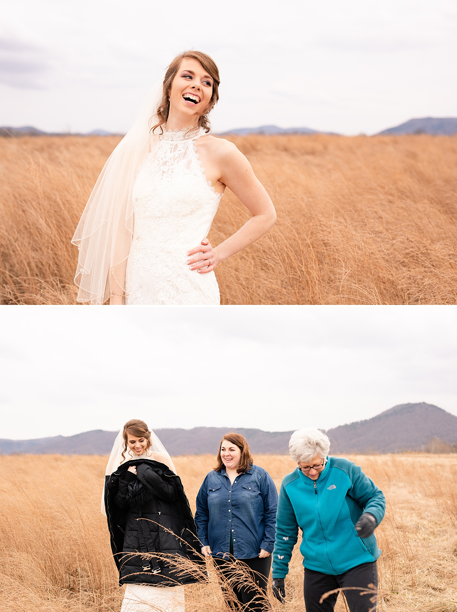 A little behind the scenes shot of Momma Nancy and I warming up the bride! Guys it was freezing but we had a great time!! :)