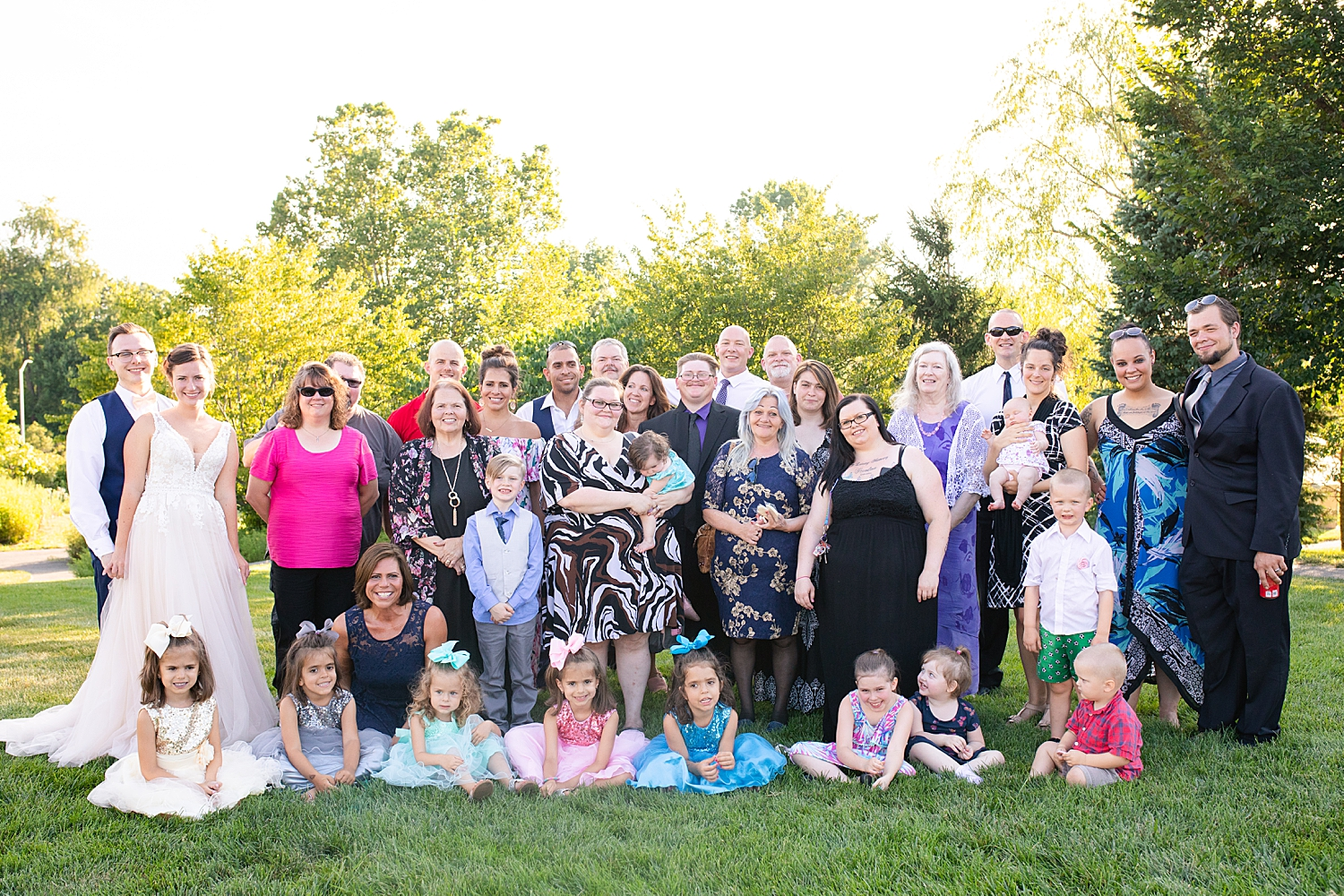 This group came from all over so this shot was important to get since everyone was together!! This photo was taken during the reception right after dinner!
