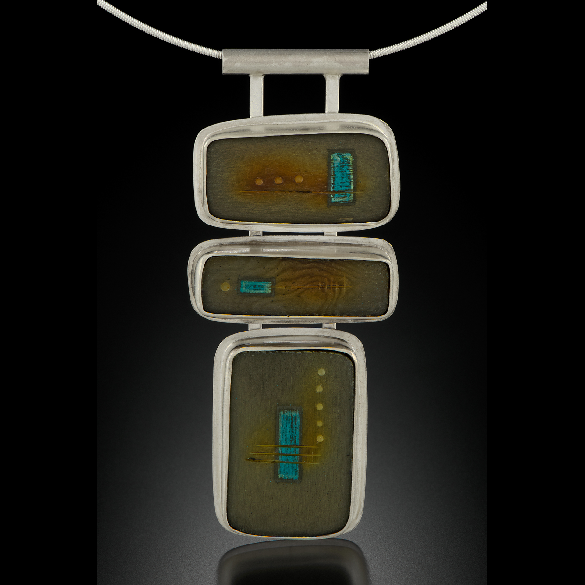 Tagua Pendant, 3 piece, set in sterling silver   $ 720
